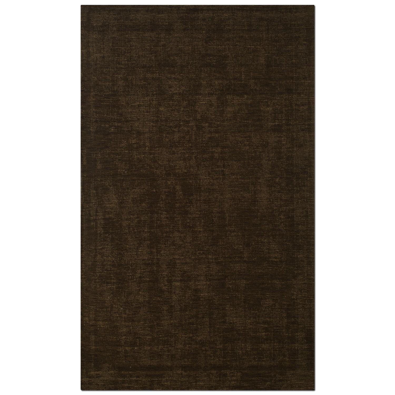 Rugs - Basics 5' x 8' Area Rug - Medium Brown
