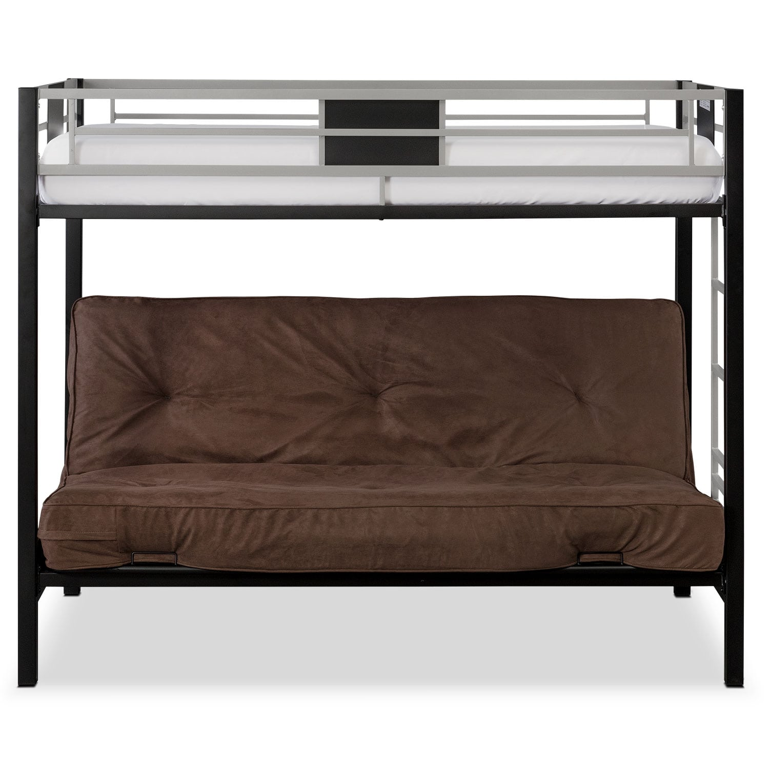Samba Youth Twin Full Futon Bunk Bed with Chocolate Futon Mattress