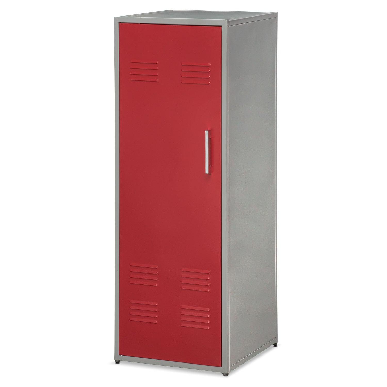 "Bedroom Furniture - Samba Youth 51"" Locker - Red"