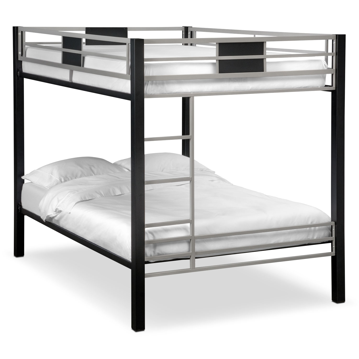Bedroom Furniture - Samba Full/Full Bunkbed - Matte Black