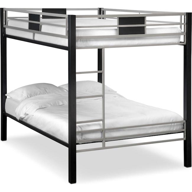 Bedroom Furniture - Samba Full/Full Bunkbed - Matte Black