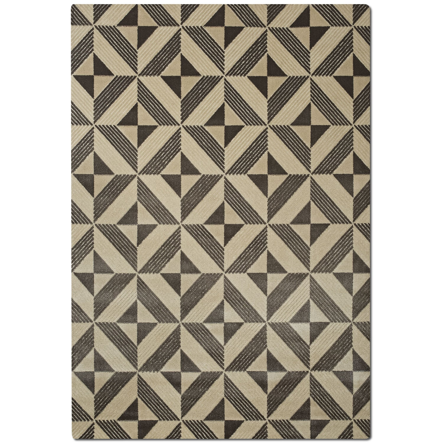 Metro 5' x 8' Area Rug - Charcoal and Ivory