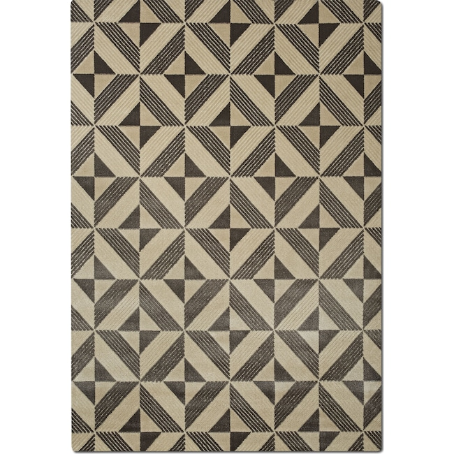 Rugs - Metro Area Rug - Charcoal and Ivory