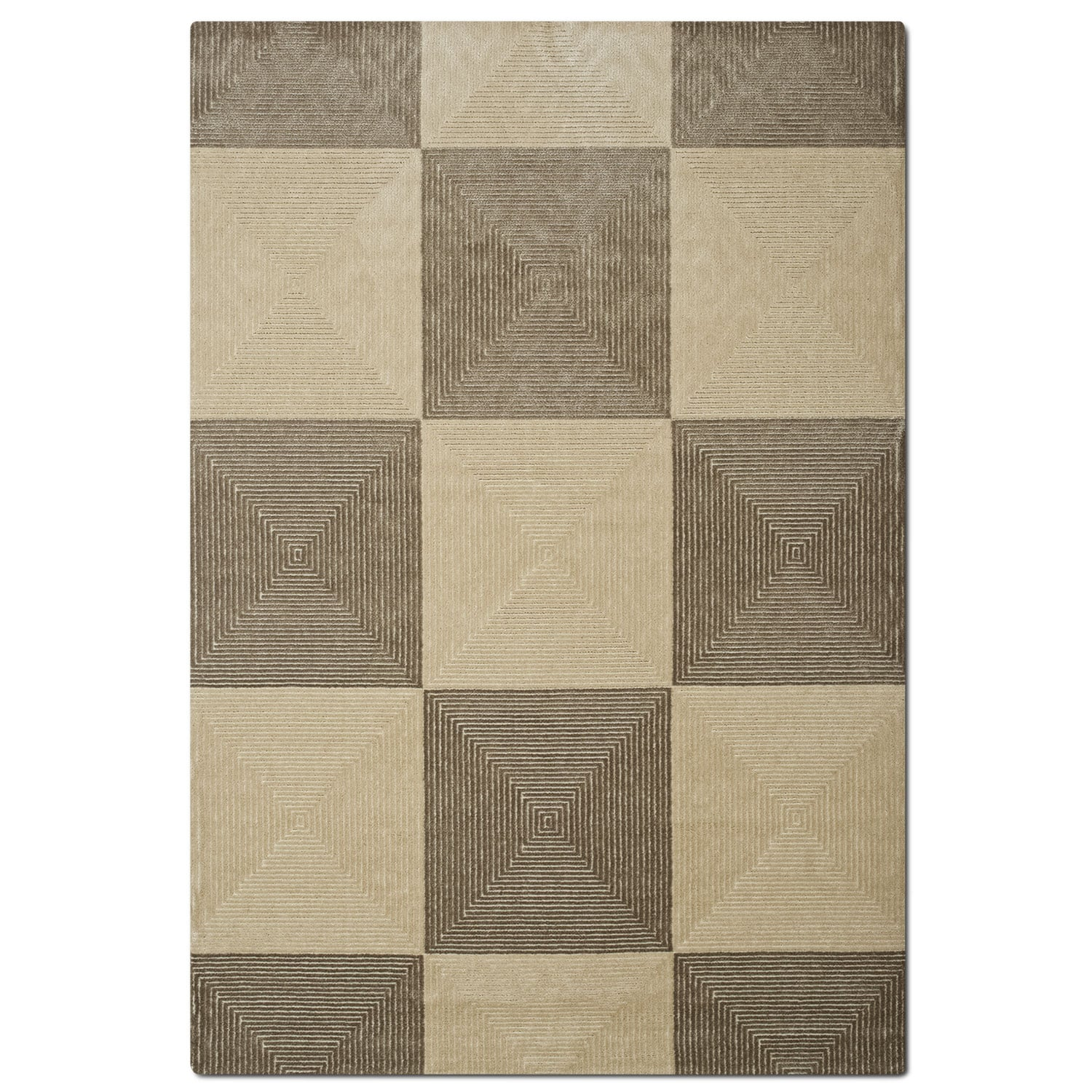 Metro 5' x 8' Area Rug - Grray and Charcoal