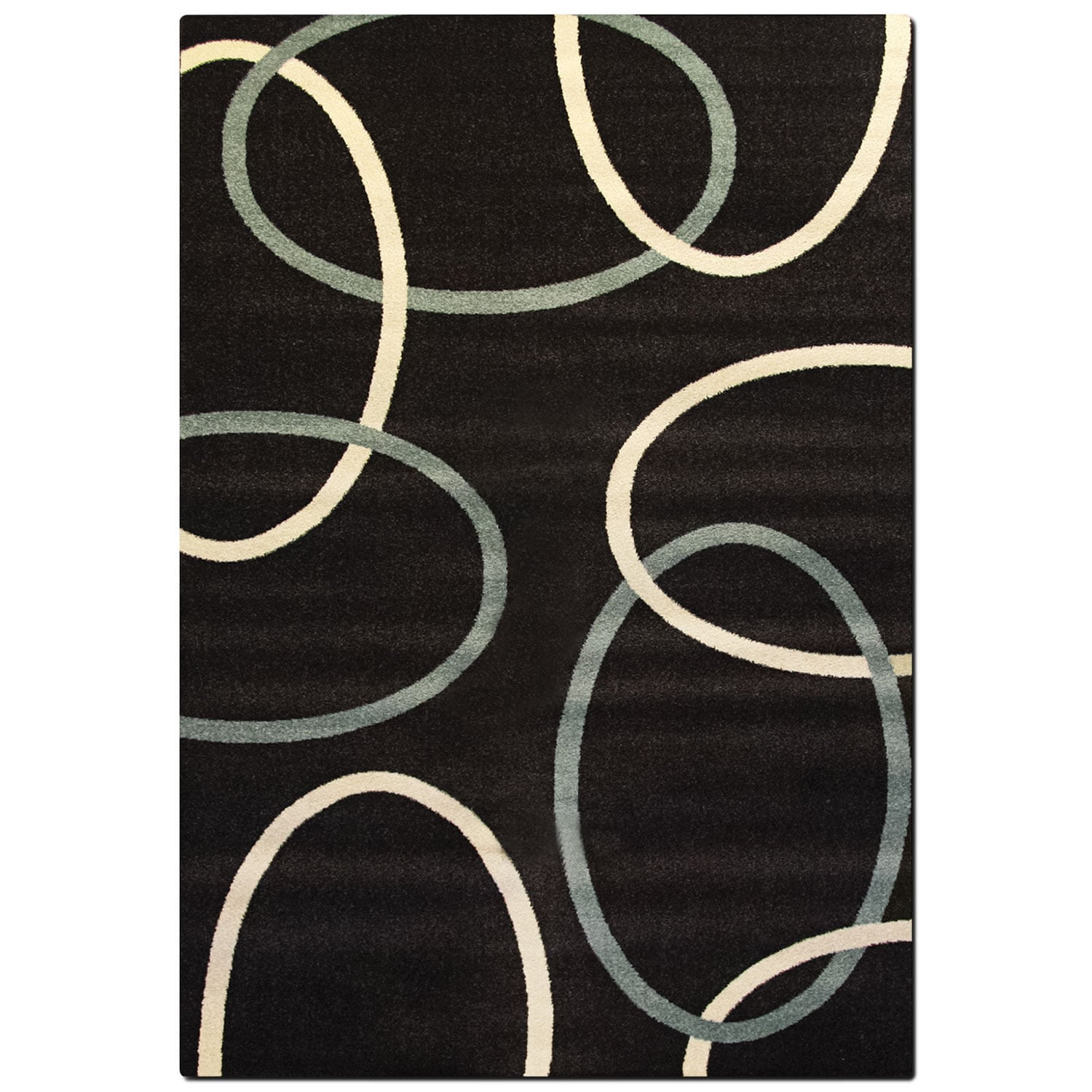 Rugs - Casa 8' x 10' Area Rug - Chocolate and Aqua