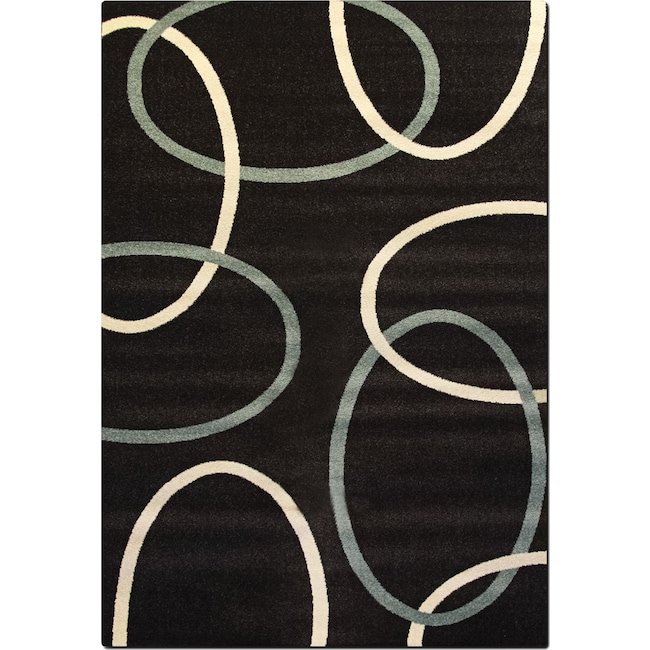 Rugs - Casa 5' x 8' Area Rug - Chocolate and Aqua