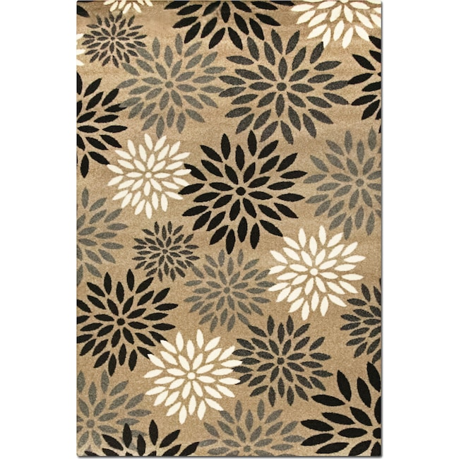 Rugs - Casa 8' x 10' Area Rug - Tan and Black