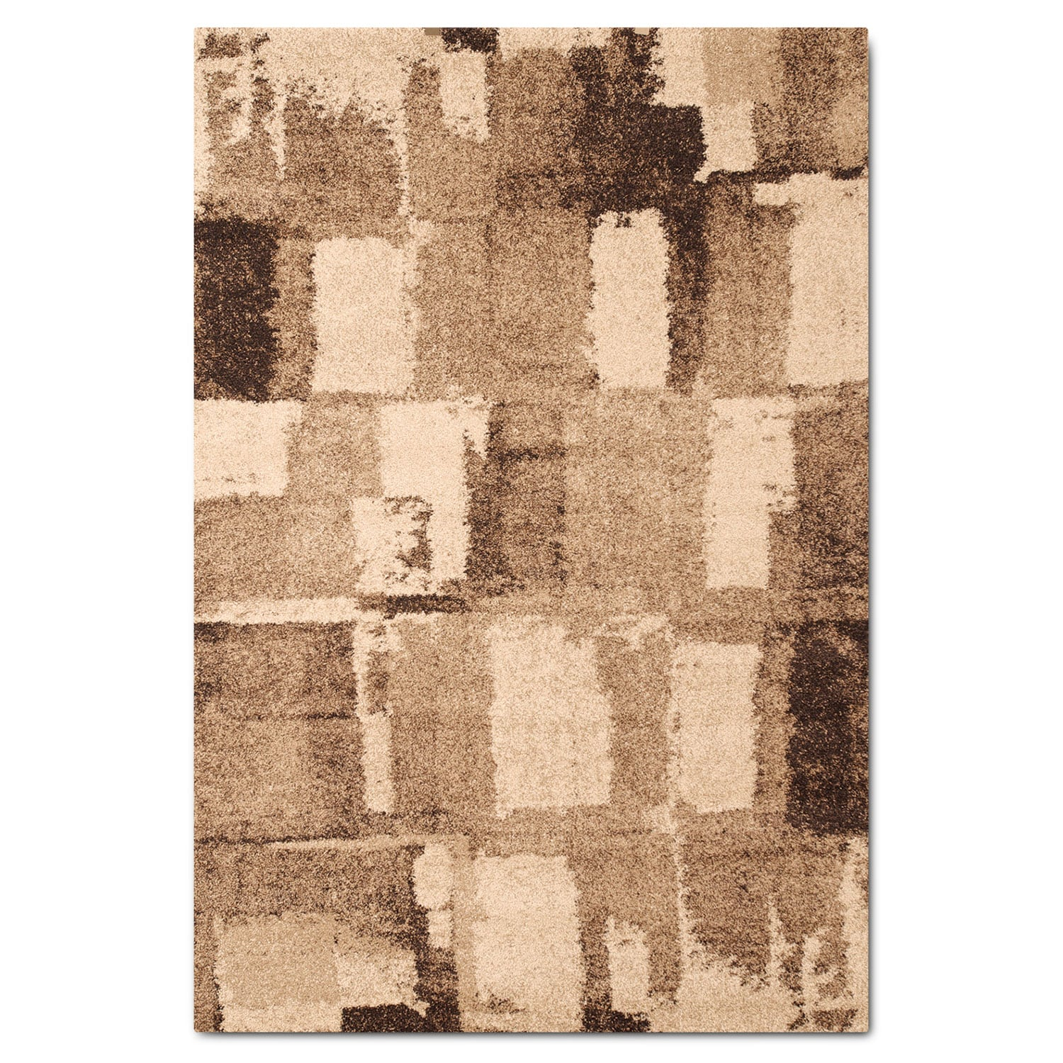 Rugs - Granada Area Rug - Chocolate and Tan