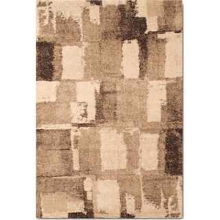Granada 5' x 8' Area Rug - Chocolate and Tan
