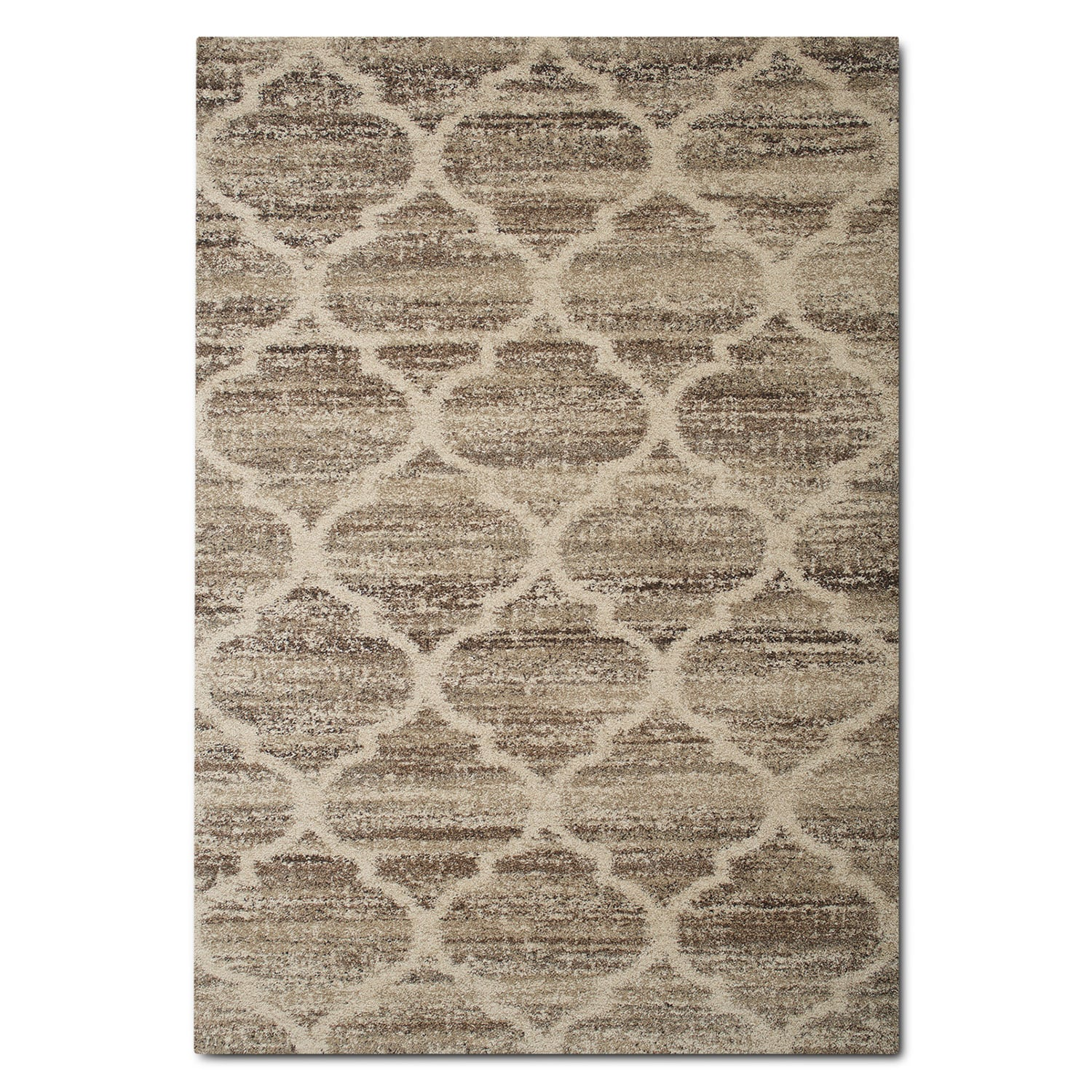 Rugs - Granada 5' x 8' Area Rug - Tan and Brown