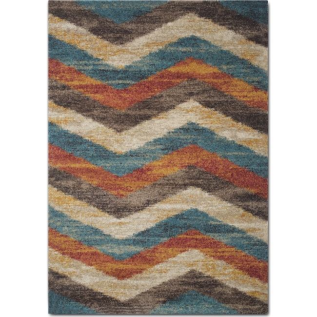 Rugs - Granada 8' x 10' Area Rug - Blue and Rust
