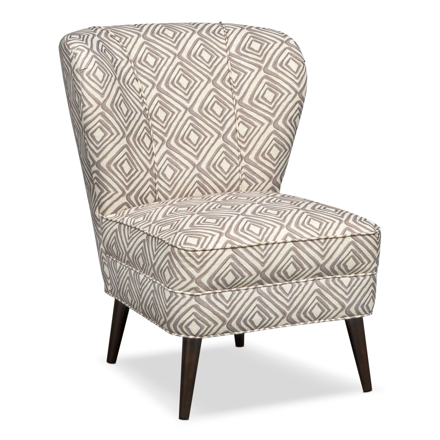 Living Room Furniture - Jules Comfort Accent Chair - Cream Print