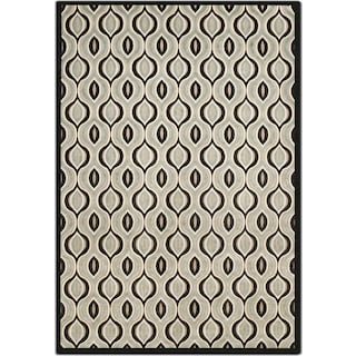 Napa 5' x 8' Area Rug - Black and Aqua