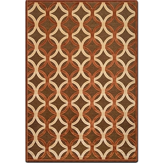 Napa 5' x 8' Area Rug - Rust and Ivory