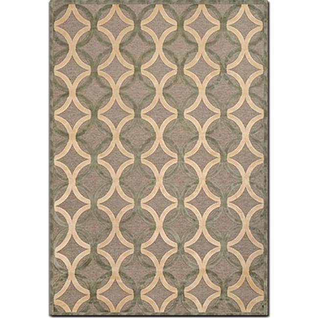 Rugs - Napa 5' x 8' Area Rug - Ivory and Seafoam