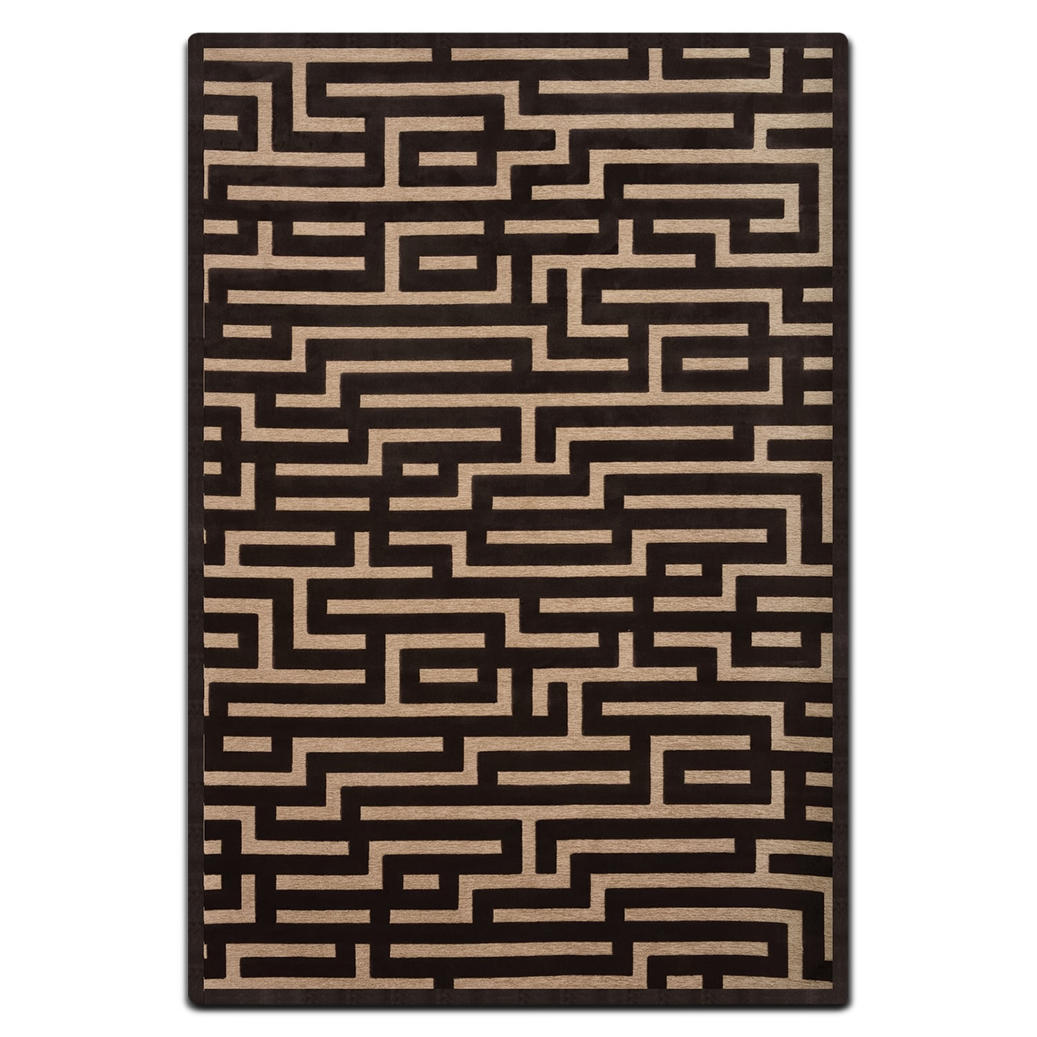 Rugs - Napa 8' x 10' Area Rug - Charcoal and Beige