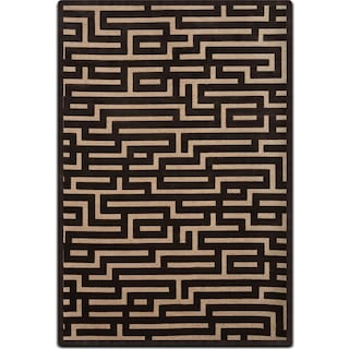Napa 8' x 10' Area Rug - Charcoal and Beige