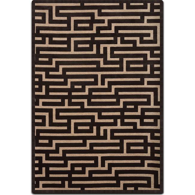 Rugs - Napa 8' x 10' Area Rug - Charcoal and Beige