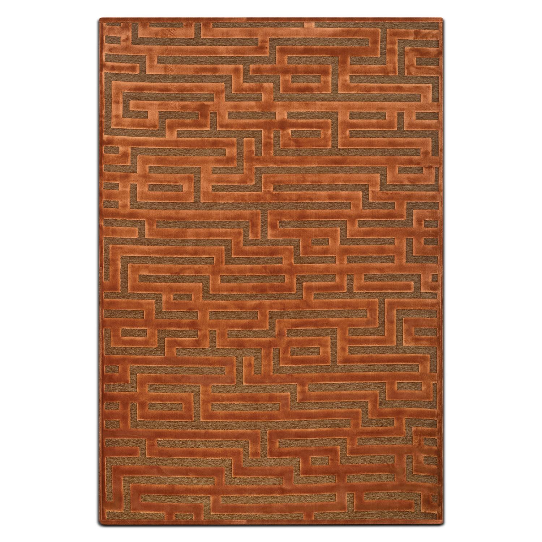 Napa 5' x 8' Area Rug - Rust and Brown