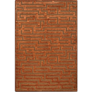 Napa 5' x 8' Area Rug - Rust and Brown