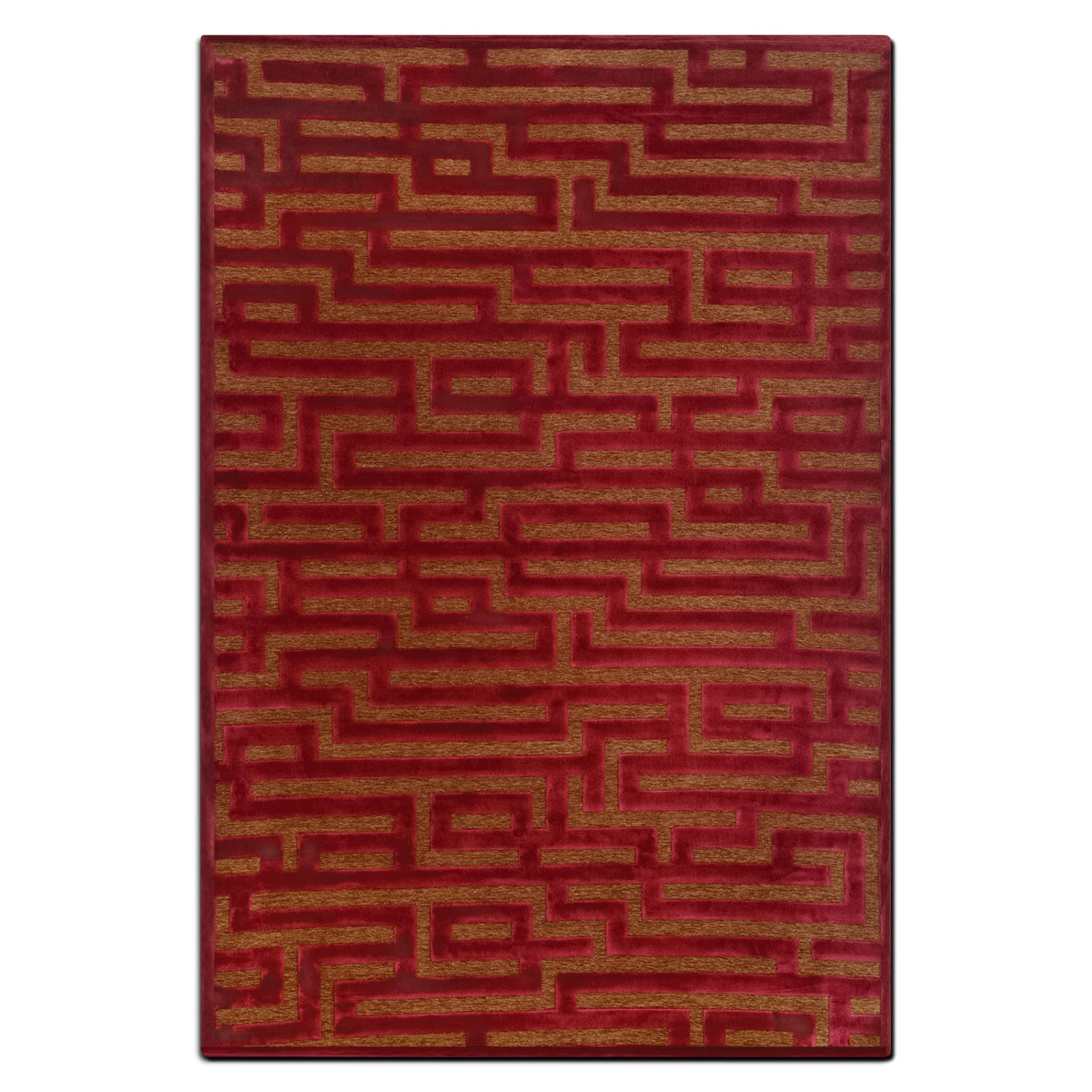 Rugs - Napa 5' x 8' Area Rug - Red and Brown