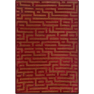 Napa 5' x 8' Area Rug - Red and Brown