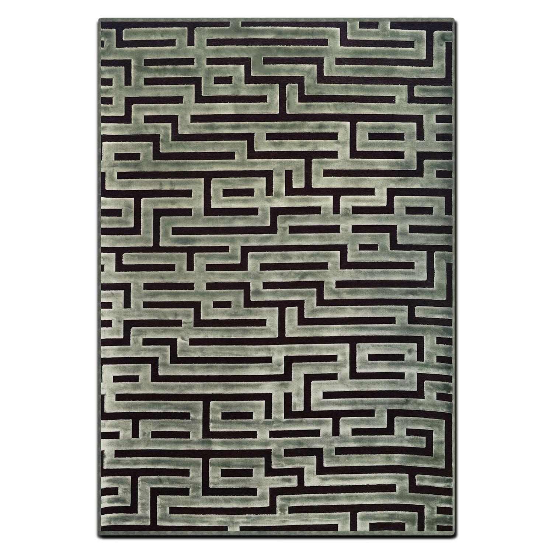 Napa 5' x 8' Area Rug - Seafoam and Charcoal