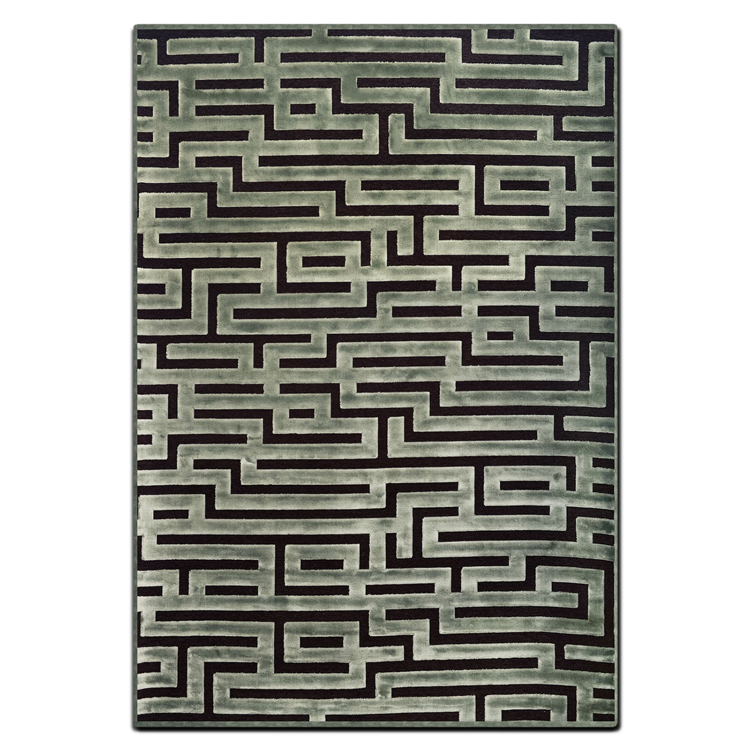 Rugs - Napa 5' x 8' Area Rug - Seafoam and Charcoal