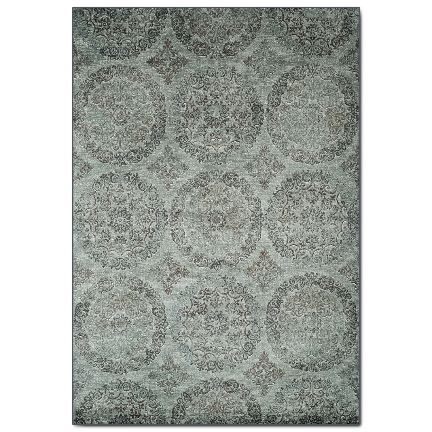 Sonoma 5' x 8' Area Rug - Beige and Light Blue