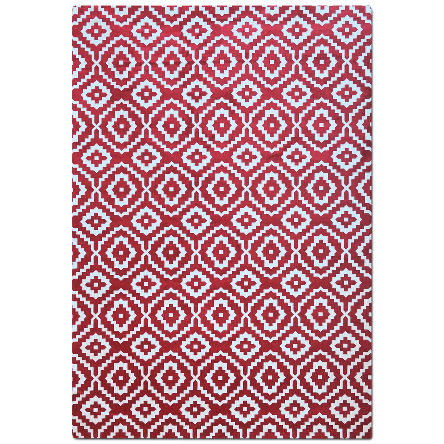 Rugs - Sonoma 5' x 8' Area Rug - Red and White
