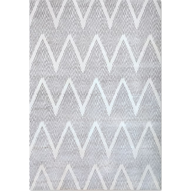 Rugs - Sonoma 8' x 10' Area Rug - Silver and White