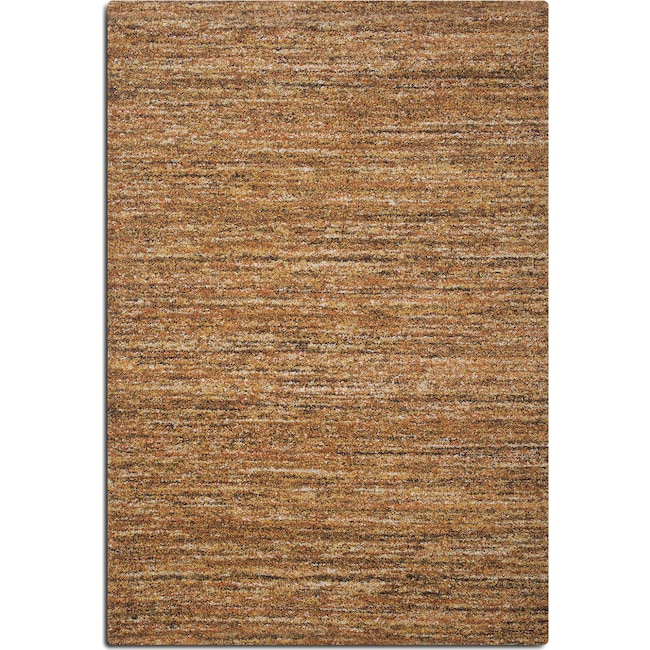 Rugs - Granada 5' x 8' Area Rug - Rust and Brown