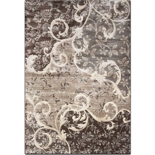 Sonoma 5' x 8' Area Rug - Chocolate and Gray