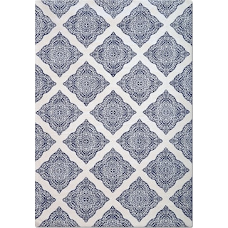 Sonoma 5' x 8' Area Rug - Navy and White Country