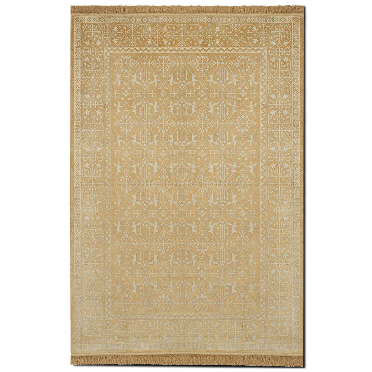 Rugs - Sonoma 5' x 8' Area Rug - Yellow and White