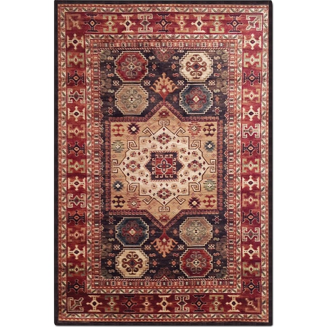 Rugs Furniture: Sonoma 8' X 10' Area Rug - Chocolate And Red