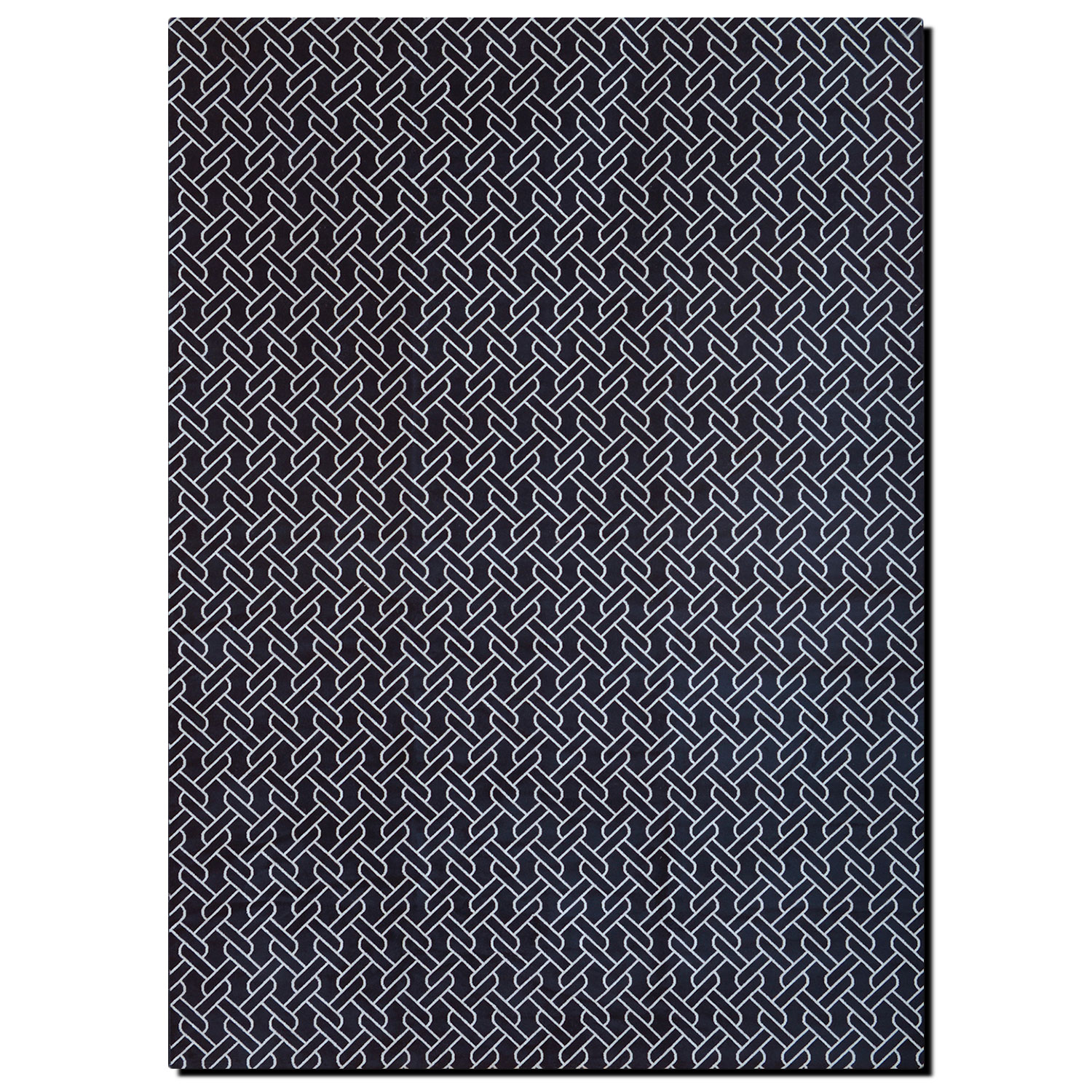 Rugs - Sonoma Area Rug - Navy and White Chain-Link