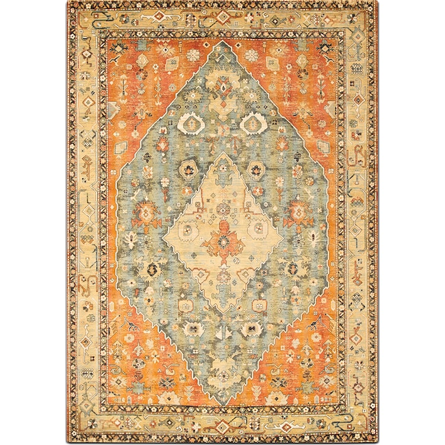 Rugs - Sonoma 5' x 8' Area Rug - Aqua and Celadon