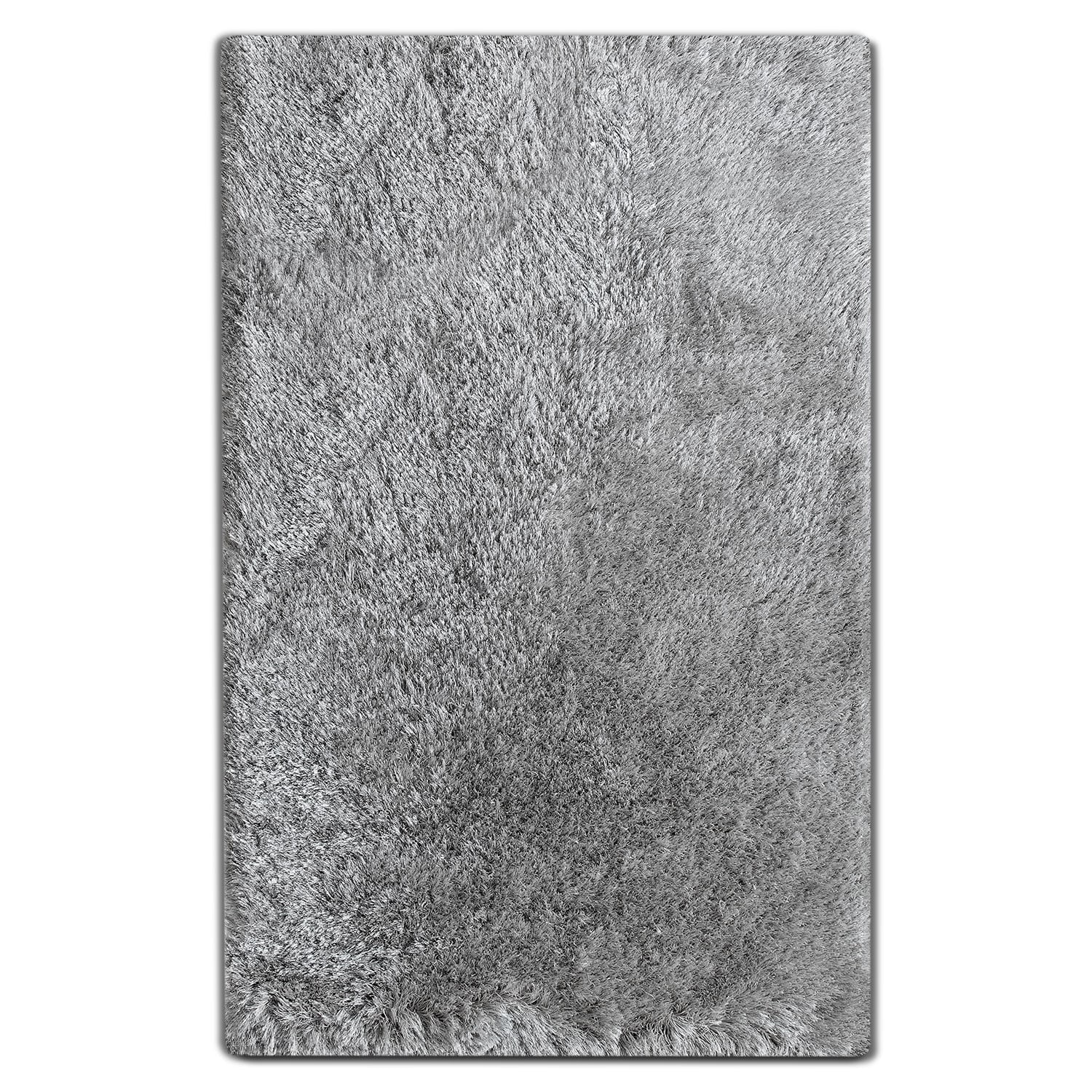 Rugs - Luxe 5' x 8' Area Rug - Silver