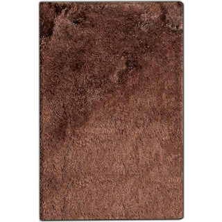 Luxe 8' x 10' Area Rug - Chocolate