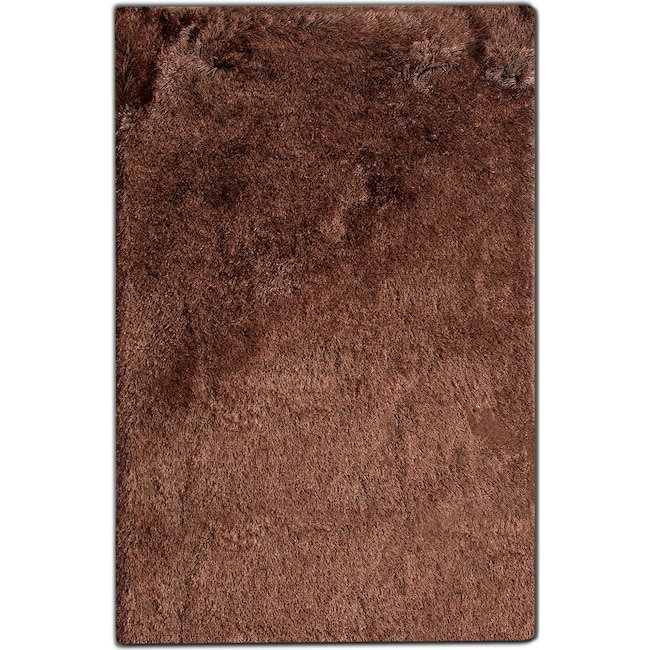 Rugs - Luxe 5' x 8' Area Rug - Chocolate