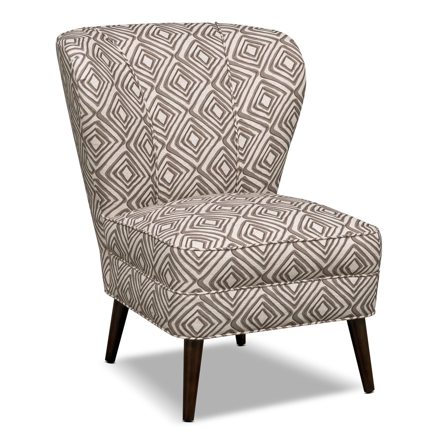 Living Room Furniture - Jules Accent Chair - Brown Print