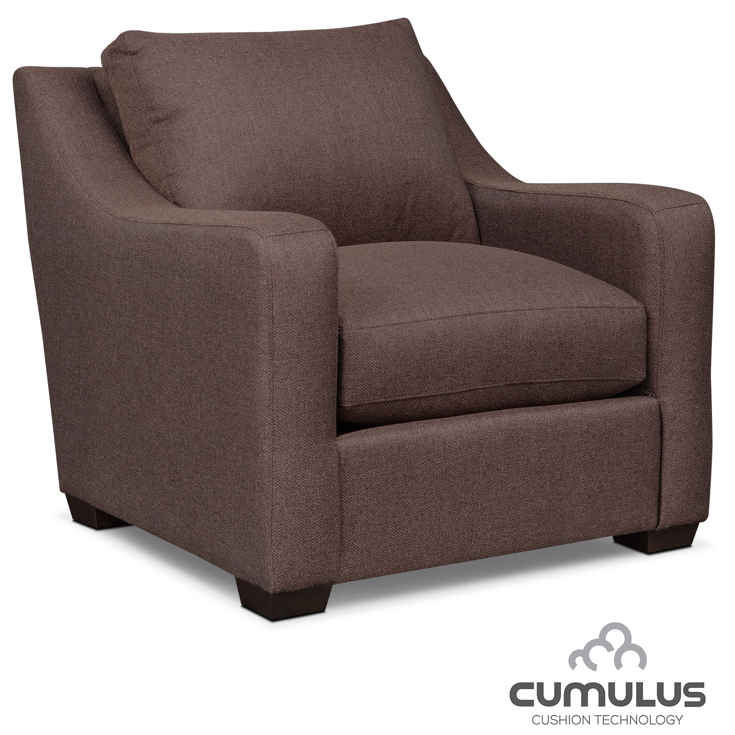 Living Room Furniture - Jules Cumulus Chair - Brown