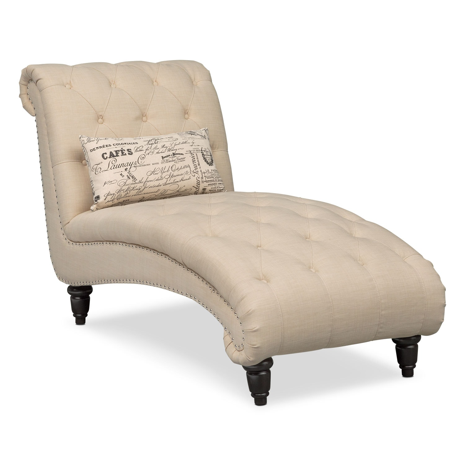 Living Room Furniture - Marisol Chaise - Beige