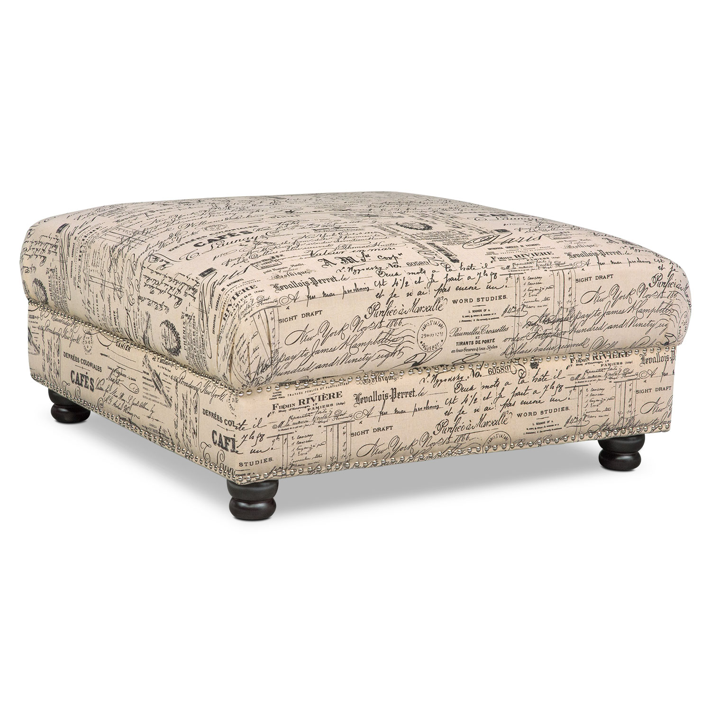 Living Room Furniture - Marisol Ottoman
