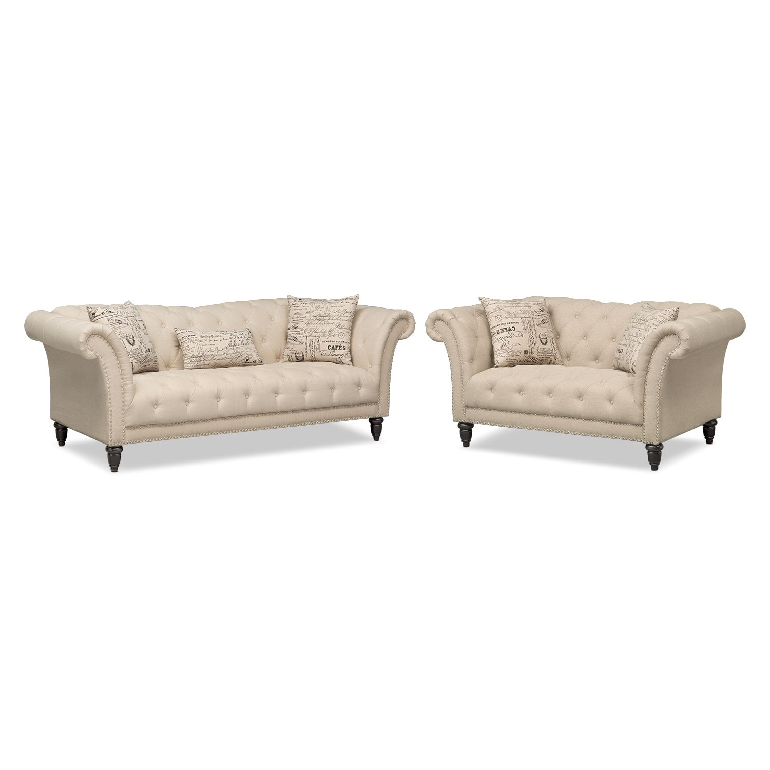 Living Room Furniture - Marisol Sofa and Loveseat