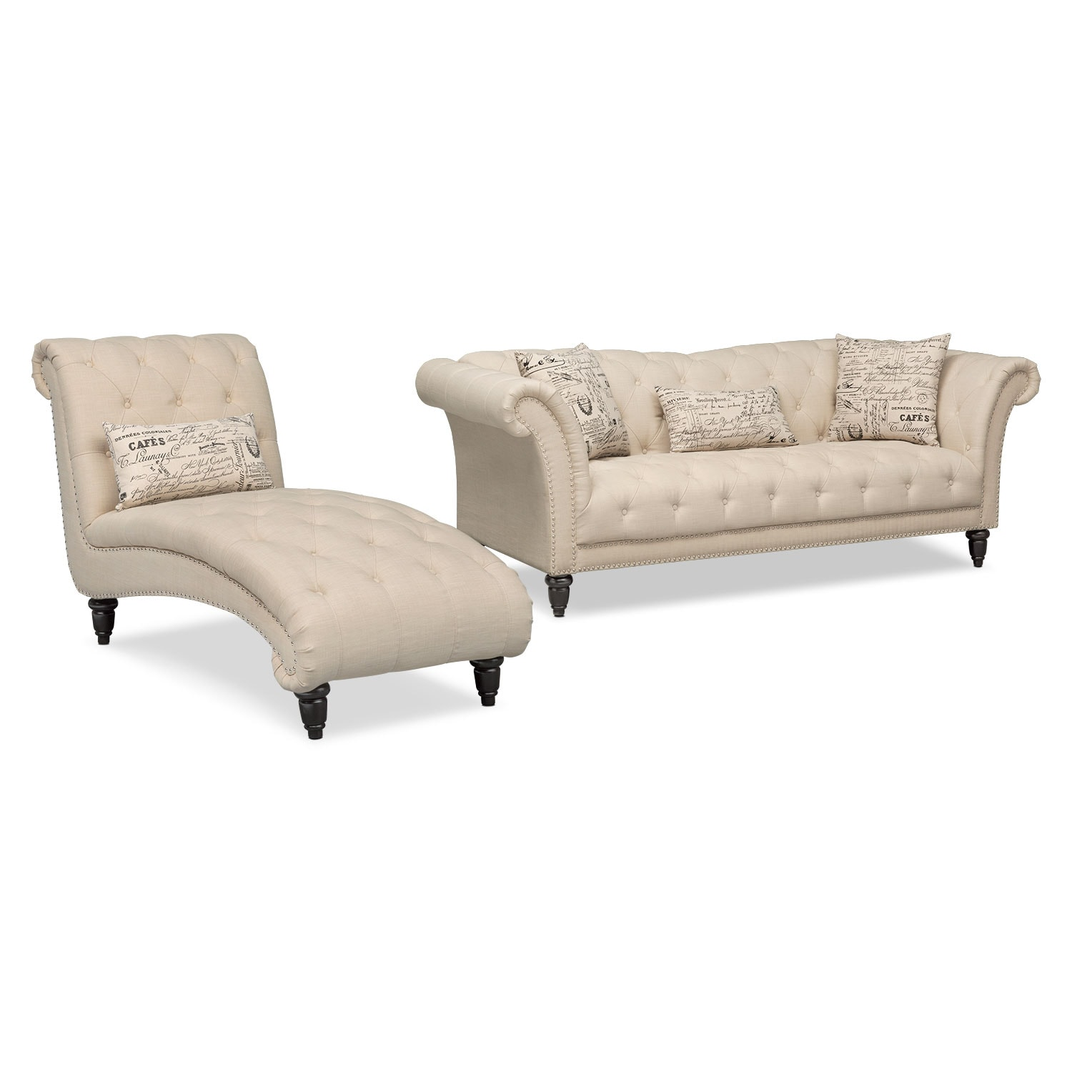 Marisol Sofa and Chaise - Beige