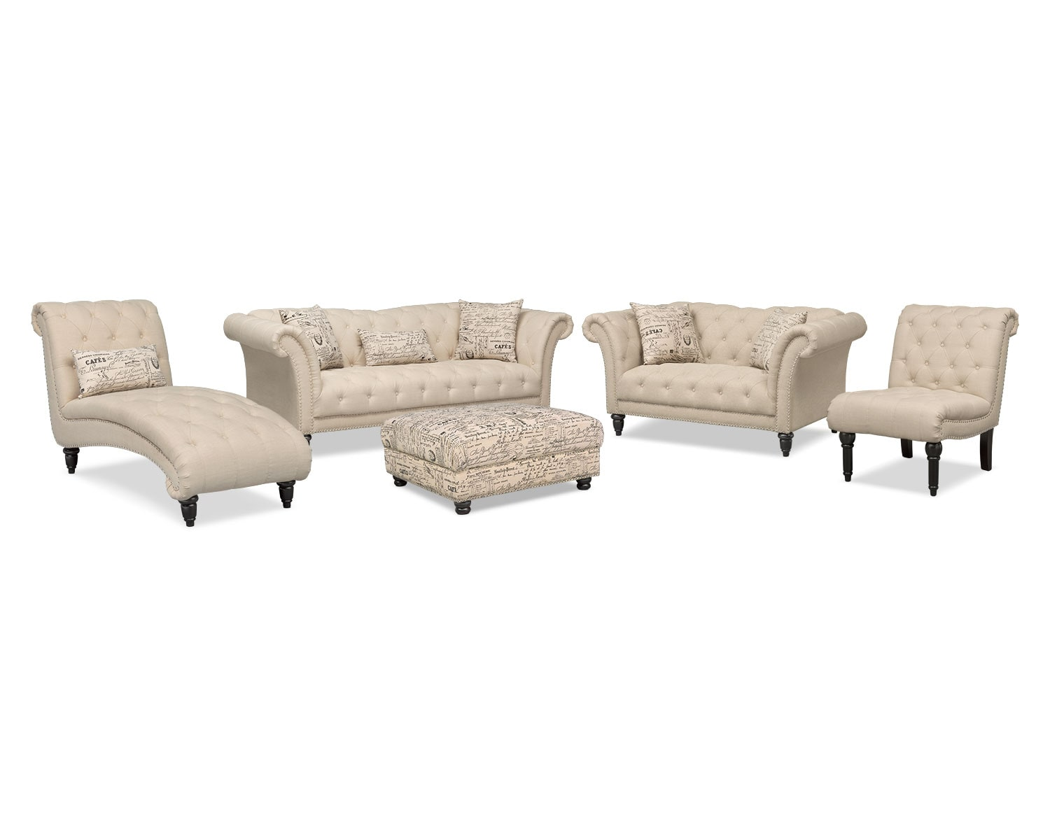 Brighton taupe 3 piece chaise and sofa set 3 piece sofas for Brighton taupe 3 piece chaise and sofa set