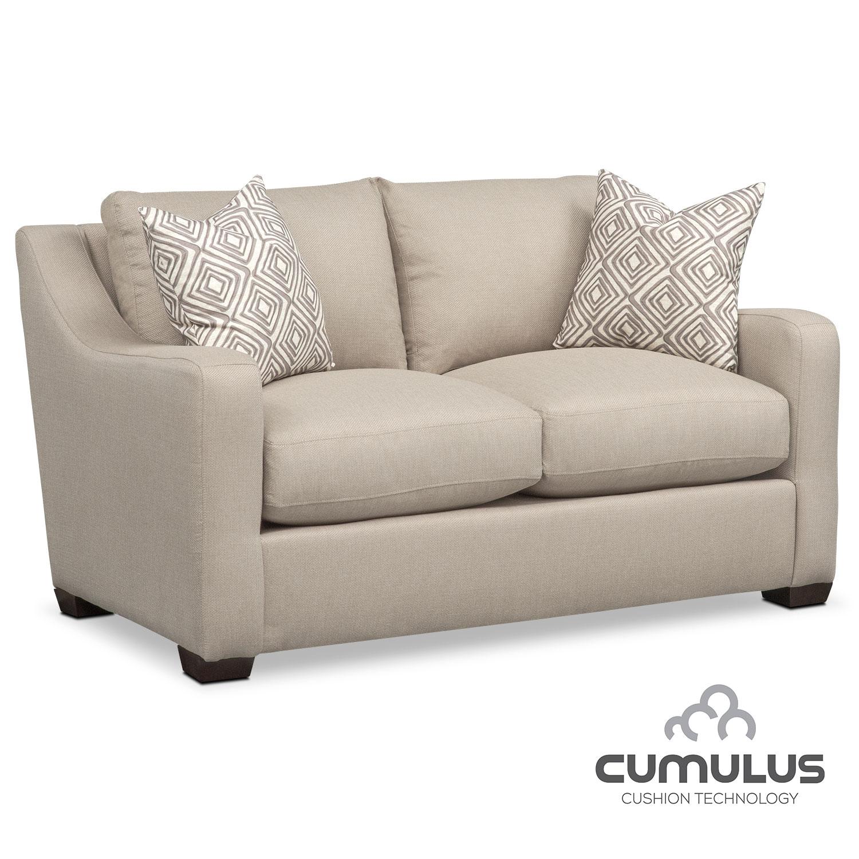 Living Room Furniture - Jules Cumulus Loveseat - Cream