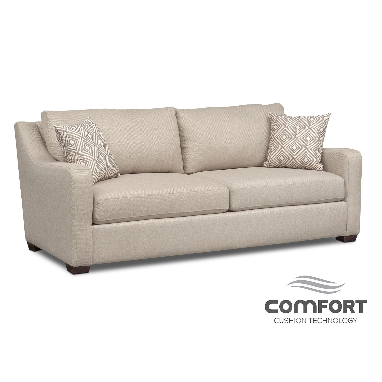 Living Room Furniture - Jules Comfort Sofa - Cream